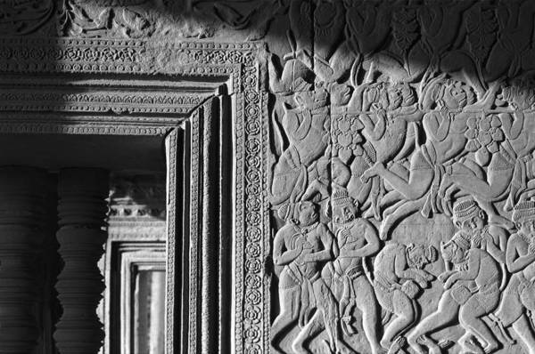 Angkor Wat Art Print featuring the photograph Door Frame by Marcus Best