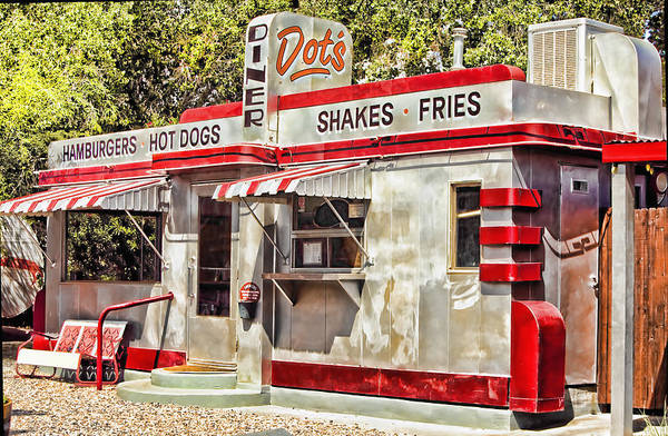 Bisbee Art Print featuring the photograph Dots Diner Bisbee Az by Lynn Andrews