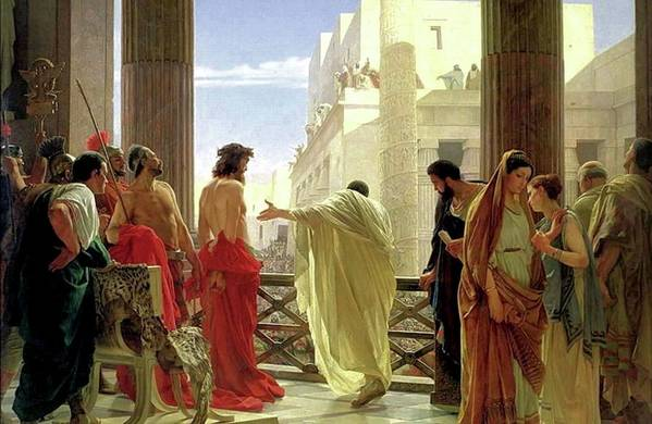 Behold The Man Art Print featuring the painting Ecce Homo by Antonio Ciseri