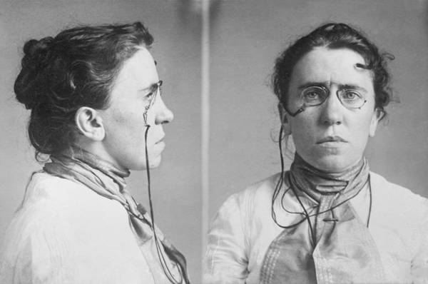 History Print featuring the photograph Emma Goldman 1869-1940 Mugshots. She by Everett