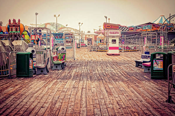 Boardwalk Art Print featuring the photograph End Of Summer by Heather Applegate