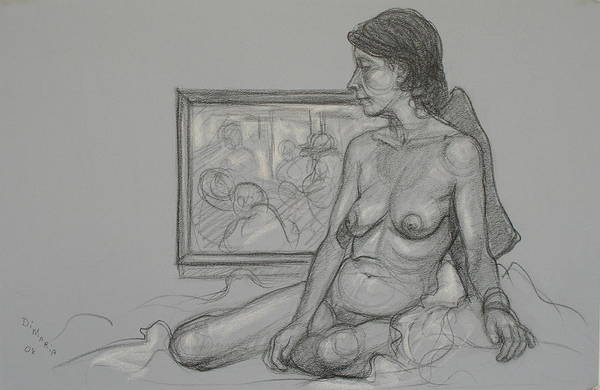Realism Art Print featuring the drawing English Model 4 by Donelli DiMaria