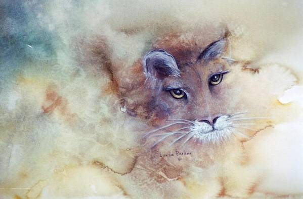 Cougar Face Art Print featuring the painting Face With In by Lynne Parker