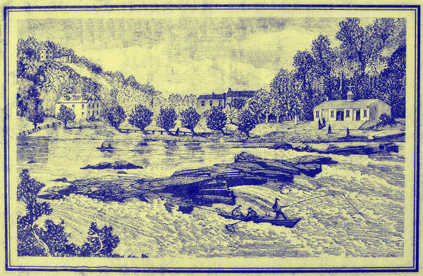 Falls Art Print featuring the photograph Falls Of The Schuylkill And Fort St Davids 1794 by Bill Cannon