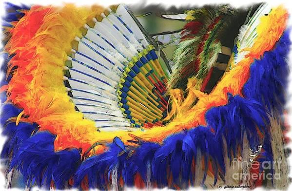 American Art Print featuring the photograph Fancy Dancer ... Montana Art Photo by GiselaSchneider MontanaArtist