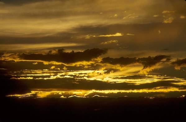 Clouds Art Print featuring the photograph Fire In The Sky by Lynard Stroud