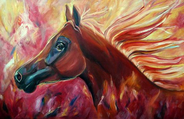 Horse Art Print featuring the painting Firestalker by Stephanie Allison