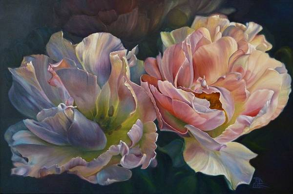 Flower Art Print featuring the painting For You by Birgit Coath - AFCA