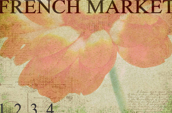 Orange Art Print featuring the photograph French Market Series E by Rebecca Cozart