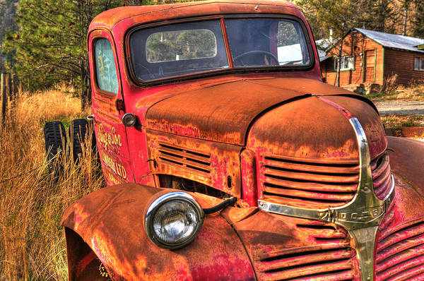 Truck Art Print featuring the photograph Funky Ride by Peter Olsen