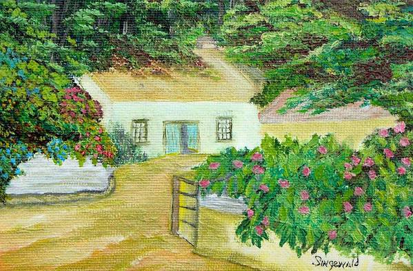 Garden Art Print featuring the painting Garden by Cary Singewald