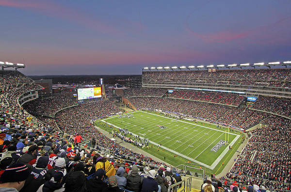 Patriots Art Print featuring the photograph Gillette Stadium And New England Patriots by Juergen Roth