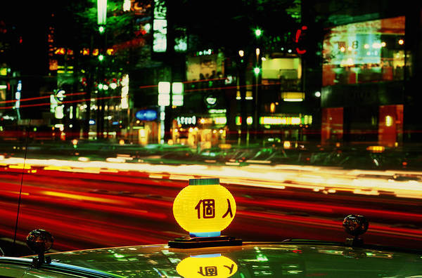 Travel Art Print featuring the photograph Ginza Tokyo Night by Brad Rickerby