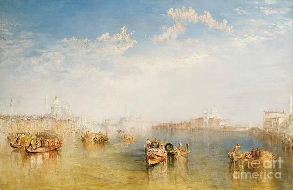 Boat Print featuring the painting Giudecca La Donna Della Salute And San Giorgio by Joseph Mallord William Turner