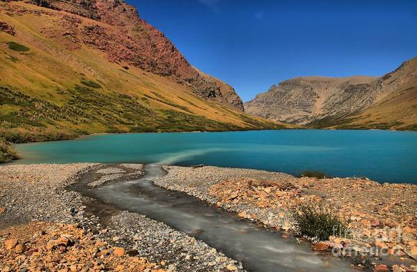 Cracker Lake Art Print featuring the photograph Glacier Cracker Lake by Adam Jewell