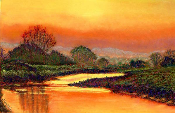 Art Art Print featuring the pastel Glorious Foretaste by Laura Gabel