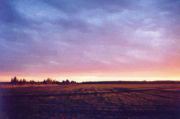 Landscape Art Print featuring the photograph Glowing Field At Sunset Pd by Lyle Crump