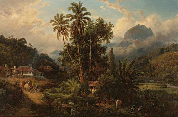 19th Century Art Art Print featuring the painting Hacienda De San Esteban De Puerto Cabello, Venezuela by Ferdinand Bellermann