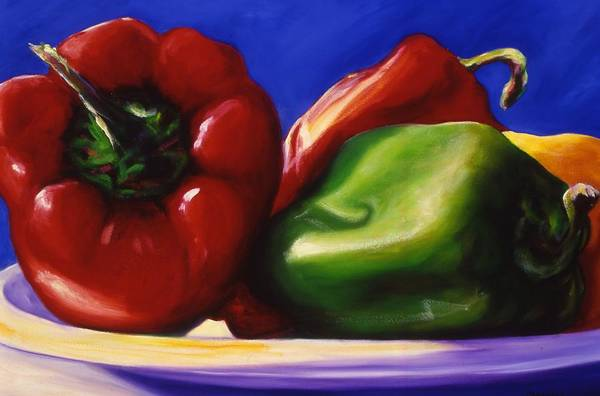 Still Life Art Print featuring the painting Harvest Festival Peppers by Shannon Grissom