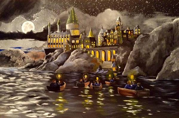 Harry Art Print featuring the painting Hogwarts Castle 2 by Tim Loughner