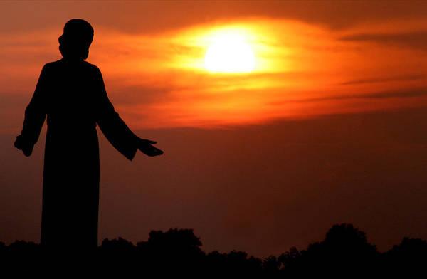 Jesus Art Print featuring the photograph Holy Sunset by Jason Hochman