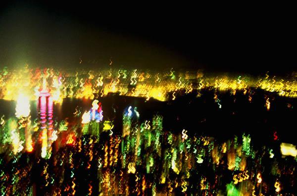 Hong Kong Art Print featuring the photograph Hong Kong Harbor Abstract by Brad Rickerby
