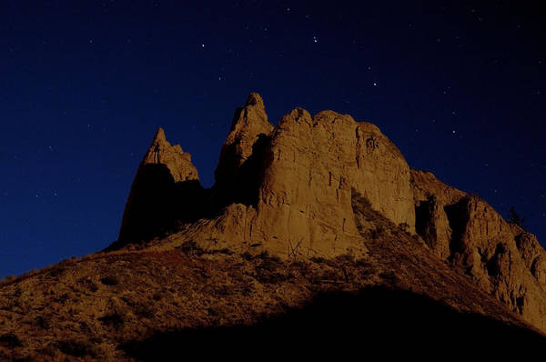 Hoodoos Art Print featuring the photograph Hoodoos At Night by Peter Olsen