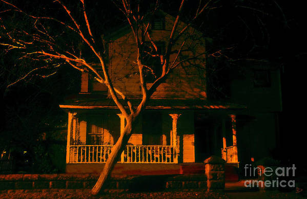 Haunted House Art Print featuring the painting House On Haunted Hill by David Lee Thompson