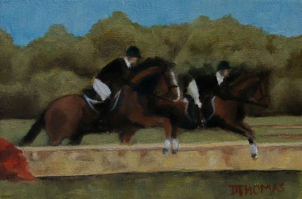 Horse Art Print featuring the painting Hunt Scene by Donna Thomas