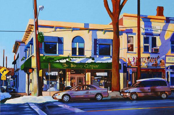 Huntington Art Print featuring the painting Huntington Village by John Tartaglione