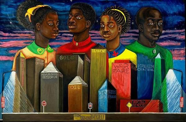 Maliksart Art Print featuring the painting I Will Rise by Malik Seneferu