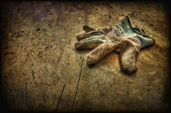 Glove Art Print featuring the photograph If The Glove Doesn't Fit........ by Evelina Kremsdorf