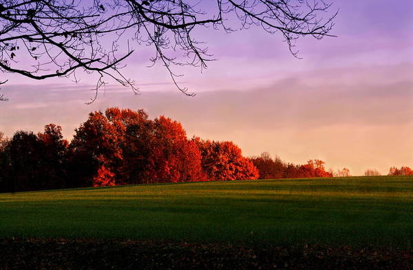 Landscape Art Print featuring the photograph Indiana Sunset by Diane Merkle