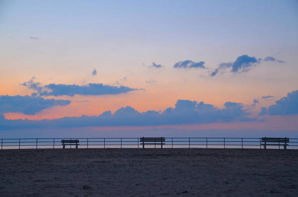 Just Art Print featuring the photograph Just Before Sunrise In Asbury Park by Bill Cannon