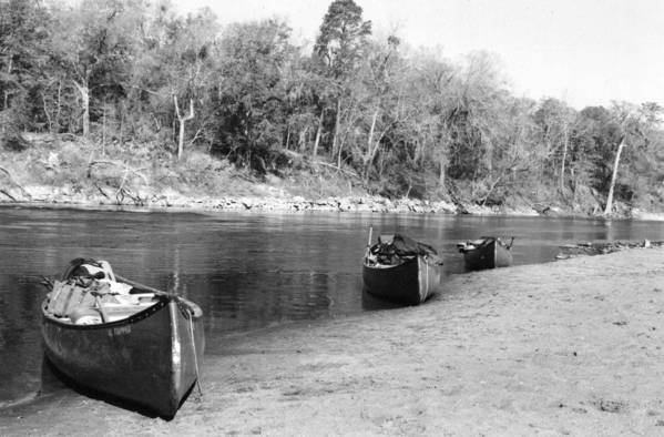 River Art Print featuring the photograph Kerr Lake Canoes by Steven Crown