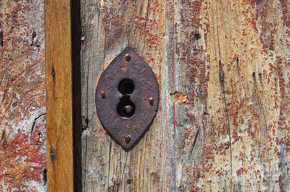 Abstract Art Print featuring the photograph Key Hole by Carlos Caetano