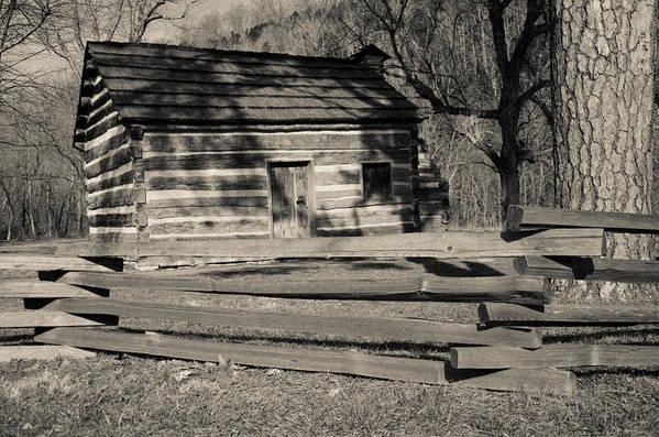 Lincoln Art Print featuring the photograph Knob Creek Cabin by Mark Bowmer