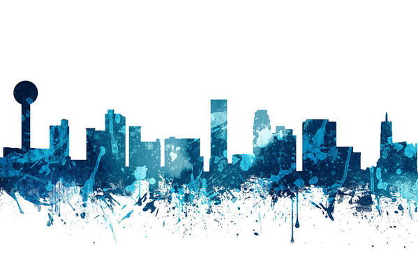 Knoxville Tennessee Skyline 19 Art Print by Aged Pixel