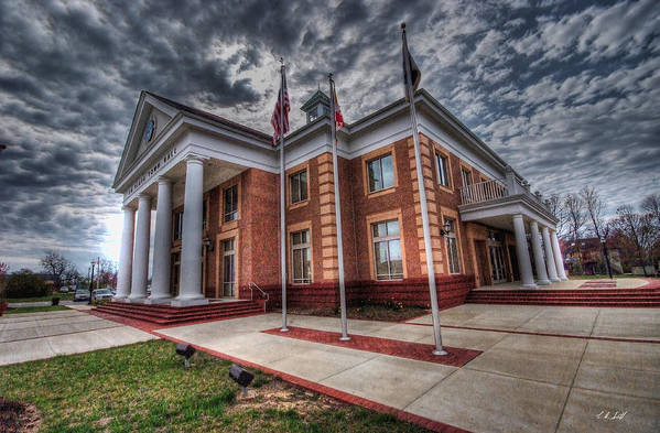Hall Art Print featuring the photograph La Plata Town Hall by E R Smith