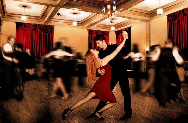 Dancing Art Print featuring the photograph Latin Dance by Keith Gondron