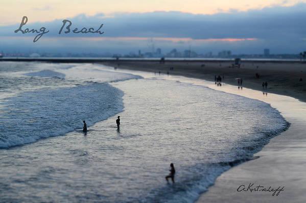 Art Print featuring the photograph Long Beach Ca by Anatole Kortscheff