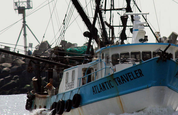 Fishing Boat Art Print featuring the photograph Long Haul by Mary Haber
