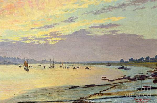 Low Art Print featuring the painting Low Tide by W Savage Cooper
