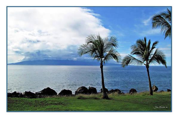 Beach Art Print featuring the digital art Maui Clouds by Joan Minchak