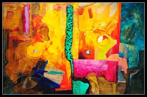 Abstract Art Print featuring the painting Metaphysical Discurs by Jacek Ungierat - Jung