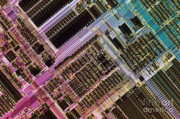 Microprocessor Art Print featuring the photograph Microprocessors by Michael W. Davidson