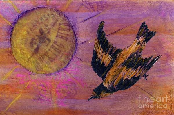 Bird Art Print featuring the mixed media Mockingbird by Desiree Paquette