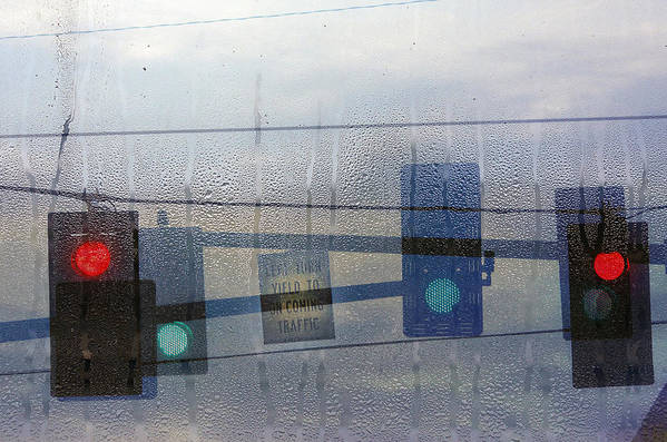 Rain Art Print featuring the photograph Morning Commute by Rebecca Cozart