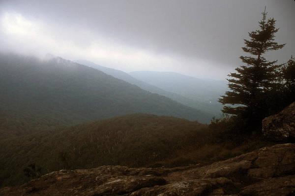 Vermont Art Print featuring the photograph Mount Horrid Cliff Storm by John Burk