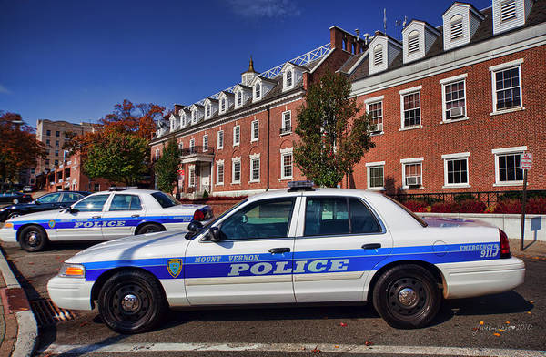 Police Art Print featuring the photograph Mount Vernon Police Department by June Marie Sobrito
